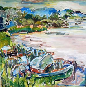 Strauss 1971 , Öl auf Leinwand, 70×70 cm
